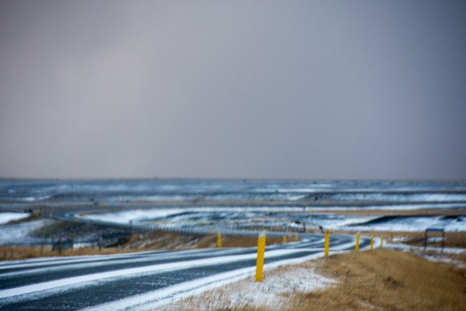 Ring Road in the south coast of Iceland during winter