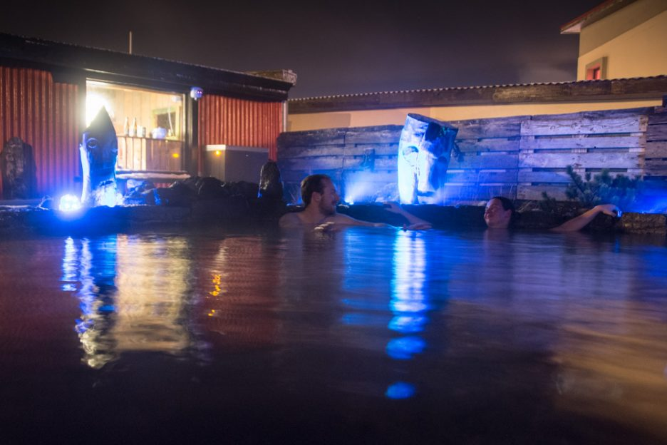Private blue lagoon at the 6X1 hostel in Keflavik