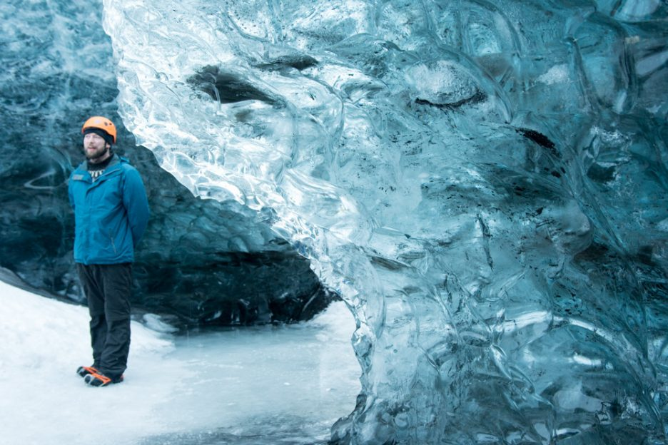 Blue Ice Caves in Iceland