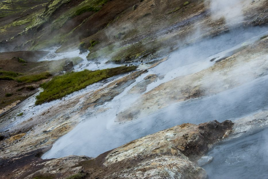 Steamy river close to Reykjadalur Hot Springs