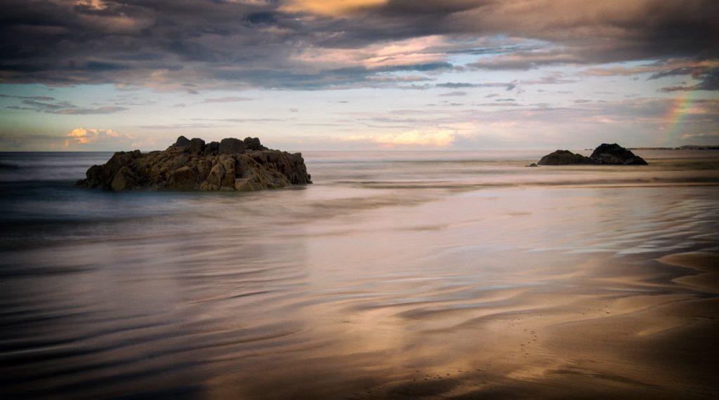 Severní Irsko - Downhill Beach sunset