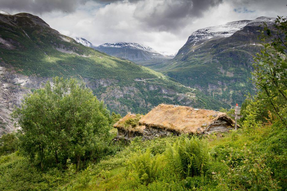 Homlongsætra spring pasture in Geirangerfjord