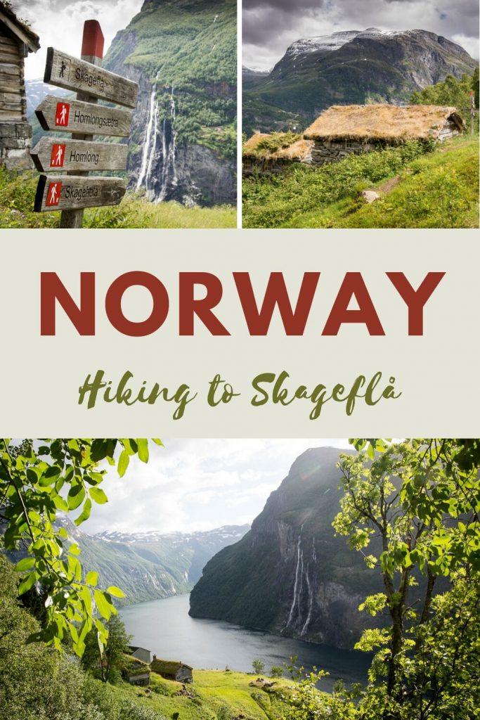 Hike to Skageflå mountain farm in Geirangerfjord - pinterest