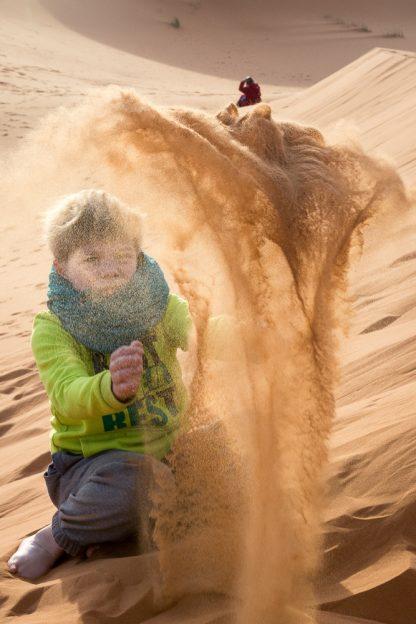 Maroko s dětmi - poušť Sahara