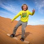 Maroko s dětmi - Sandboarding na Sahaře