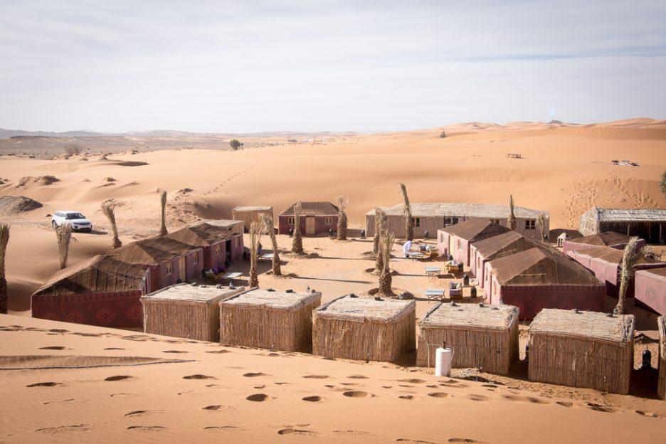 Pouštní kemp Maroko