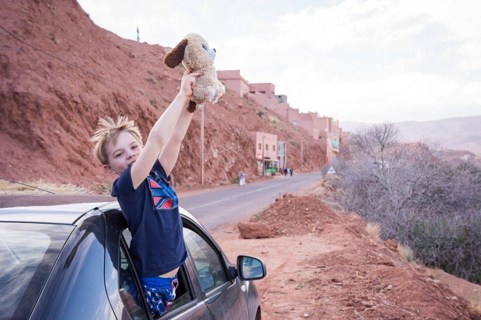 Maroko s dětmi půjčeným autem