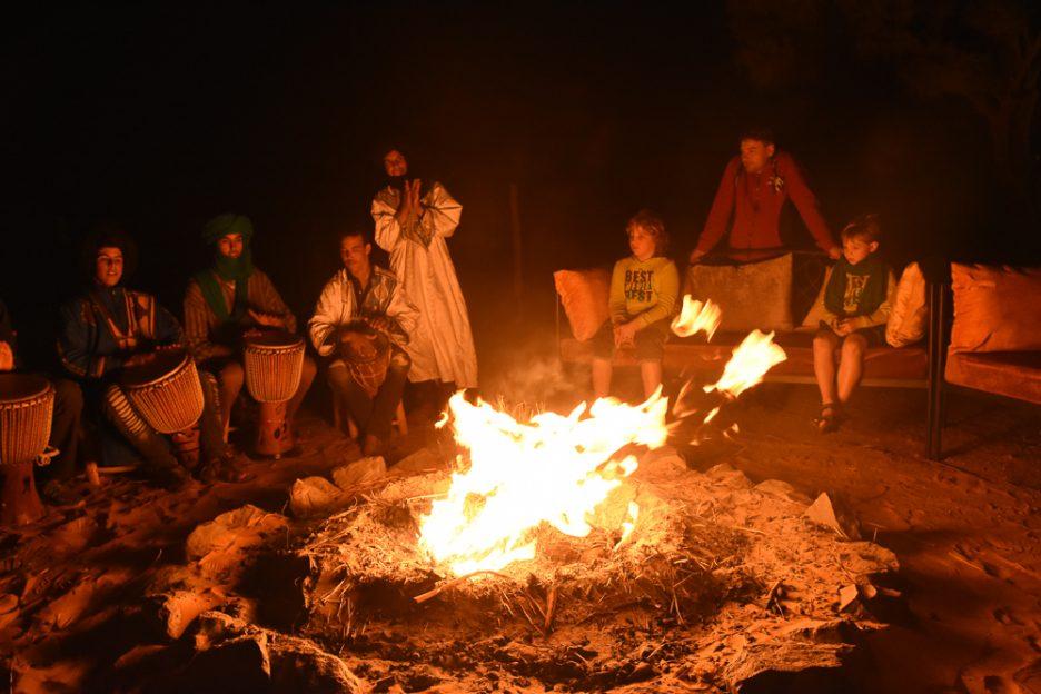 Maroko kemp v poušti