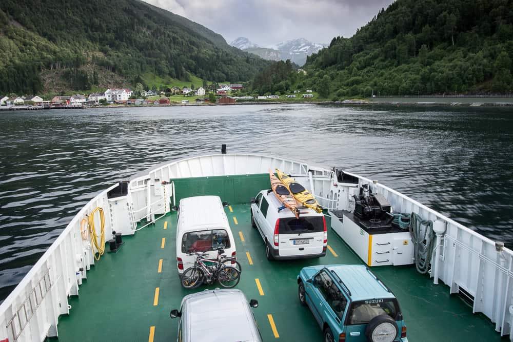 Lokální trajekt v Norsku