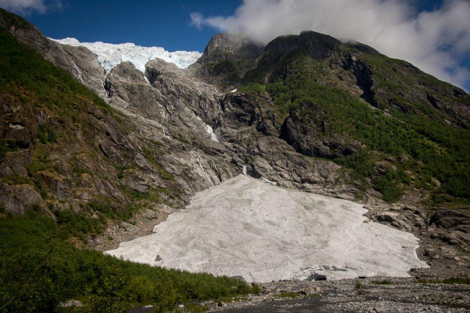 ledovec Supphellebreen v národním parku Jostedalsbreen