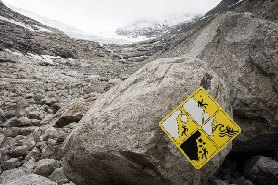 ledovec Bodalsbreen v národním parku Jostedalsbreen