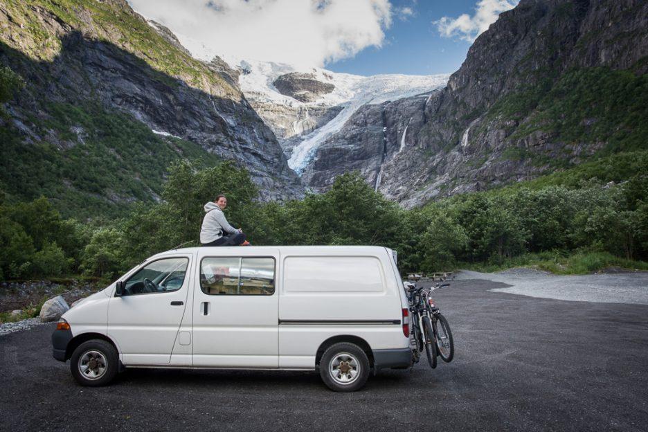 ledovec Kjenndalsbreen v národním parku Jostedalsbreen