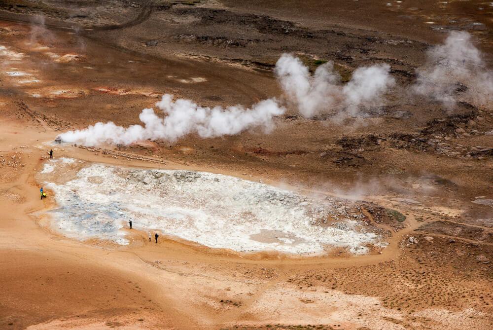 Geotermální oblast Hverír na severu Islandu