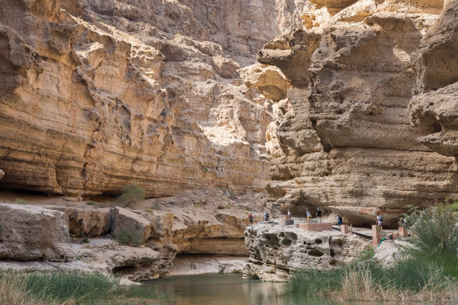 Omán bez cestovky - Wadi Shab