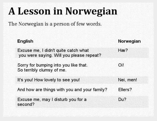 funny norwegian
