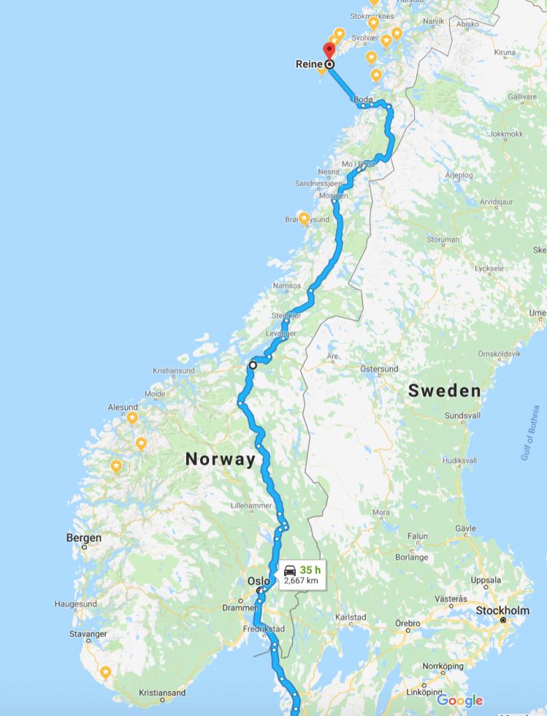 Cesta na Lofoty skrze Norsko