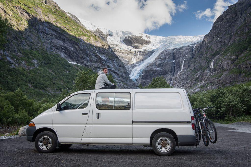 Norsko s obytnou dodávkou