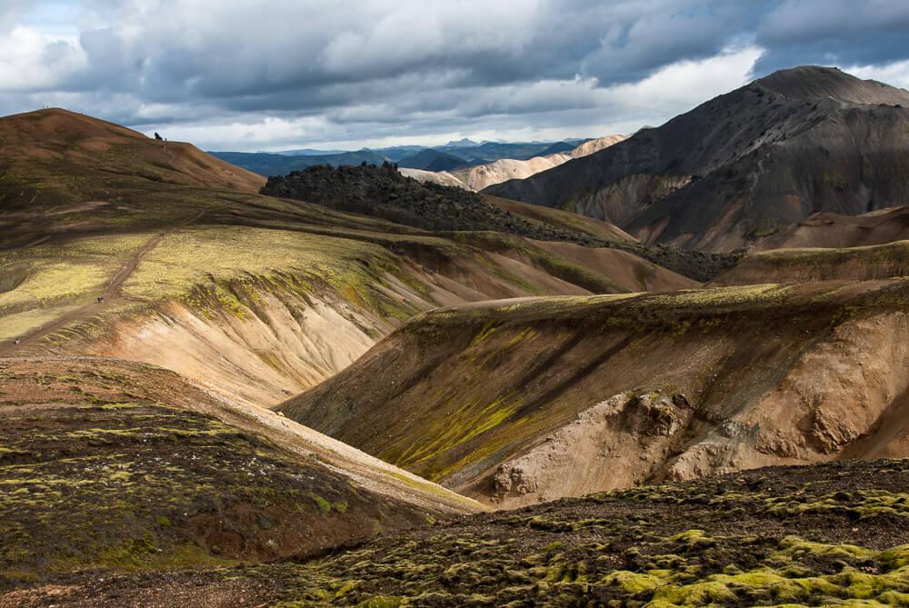 Duhové hory poblíž Landmannalaugar na Islandu