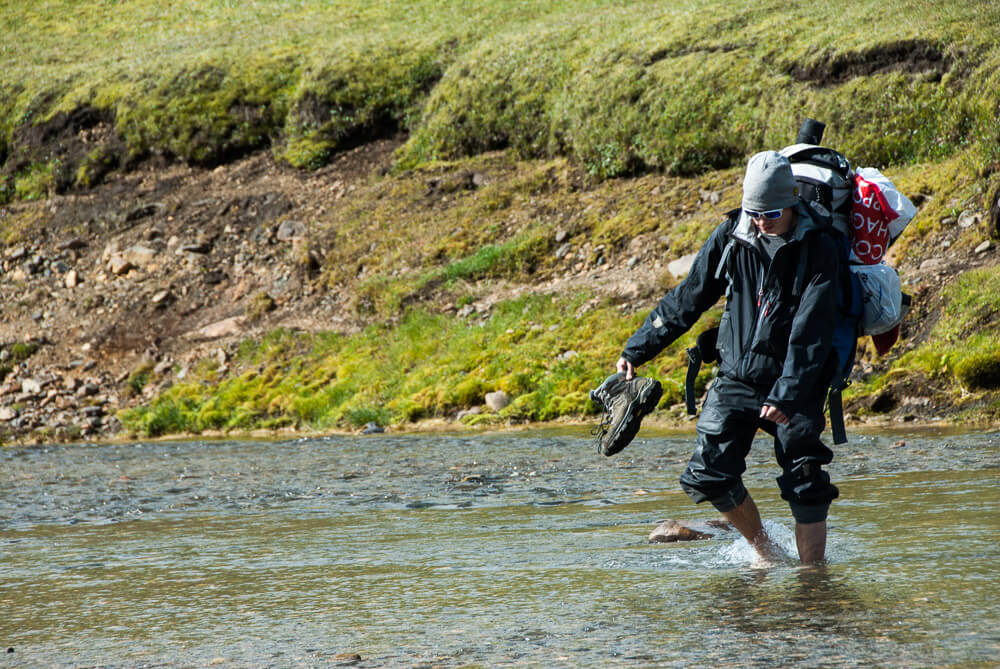 Brodění řek na Islandu
