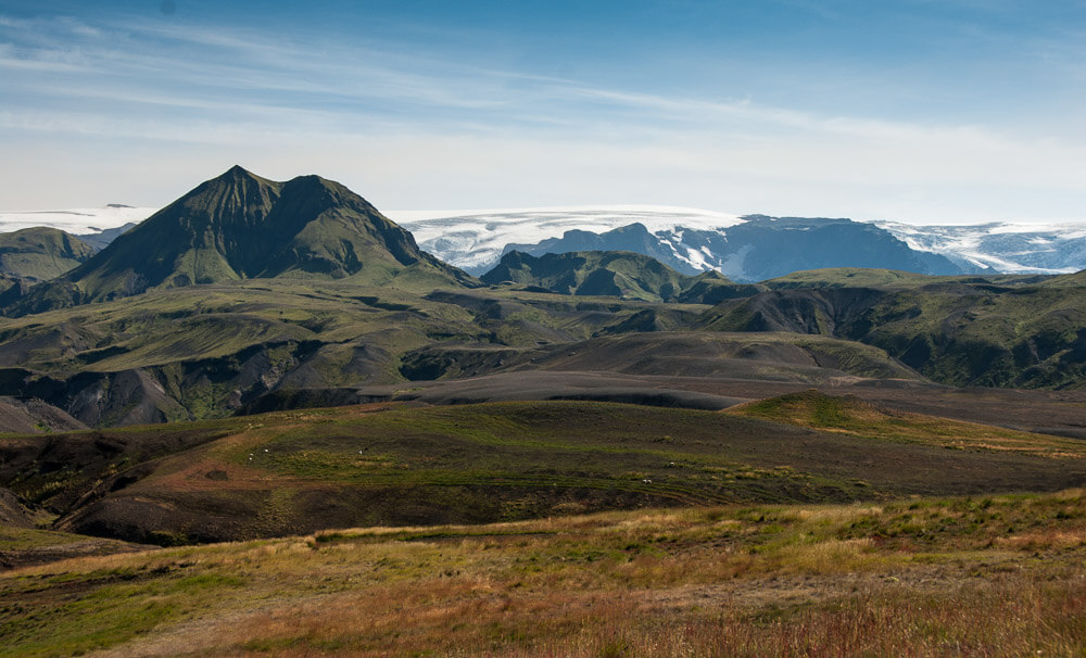 Laugavegur trek třetí den: Krajina kolem Thorsmorku