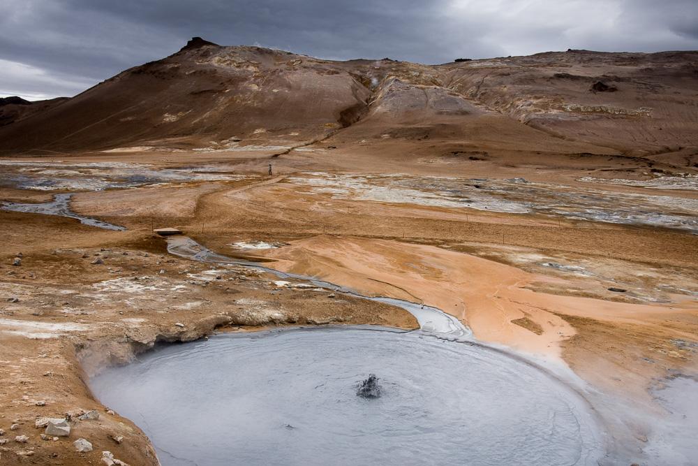 Sever Islandu okolí jezera Mývatn