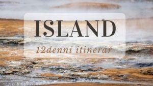 Cestopis ISLAND_ 12denní itinerář