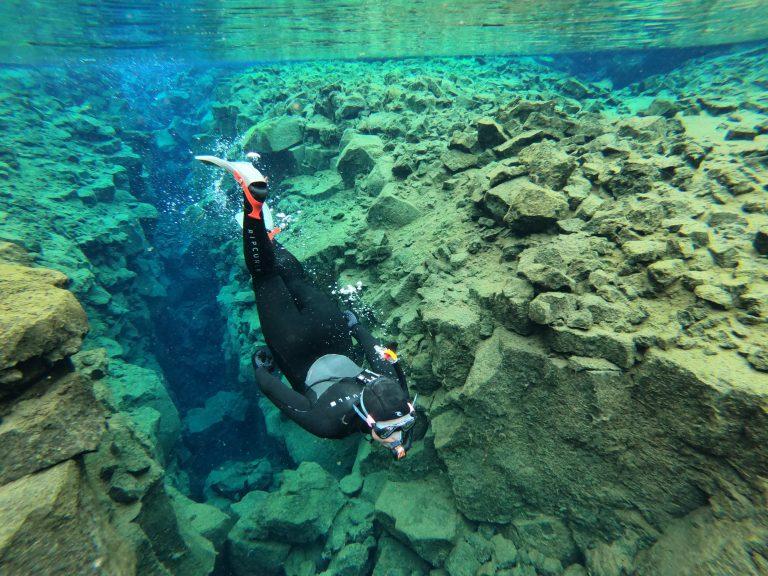 Šnorchlování v Silfra na Islandu