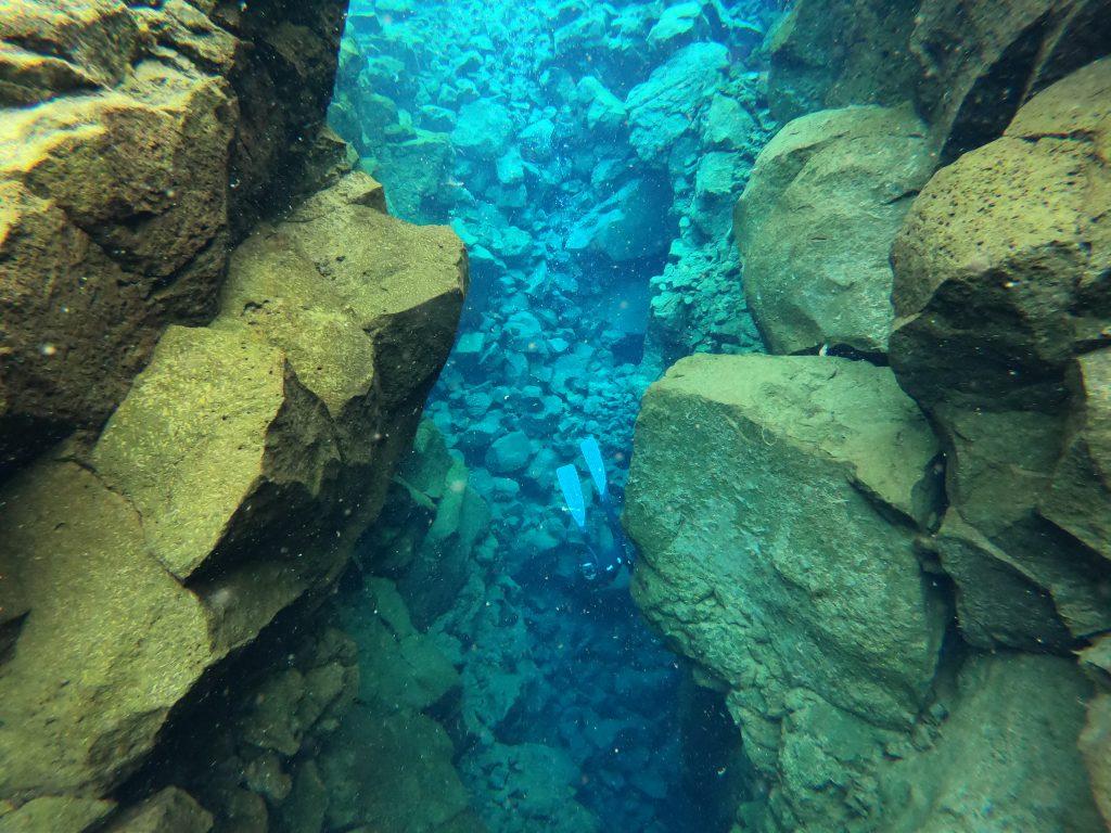 Šnorchlování mezi kontinenty Island