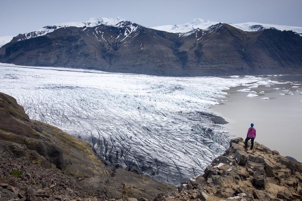 Vyhlídka na ledovec Skafftafelljokul, Island
