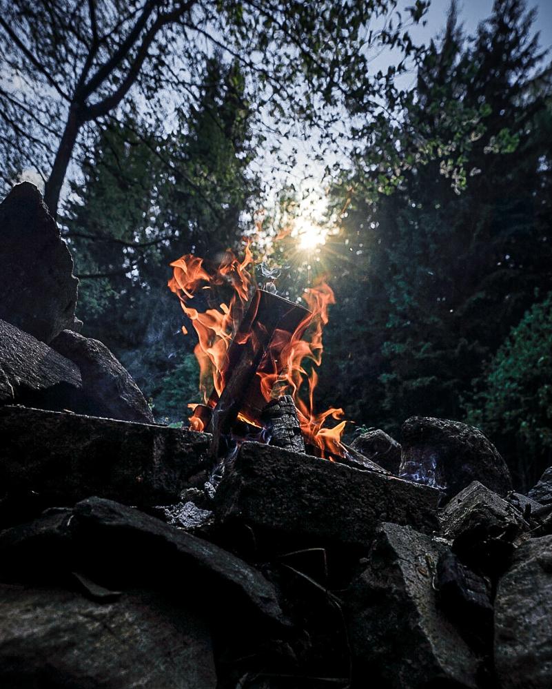 Rozdělávání ohně ve Švédsku