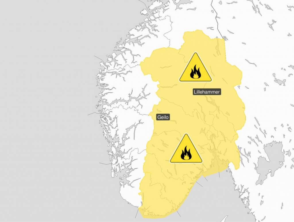 Nebezpečí lesních požárů v Norsku