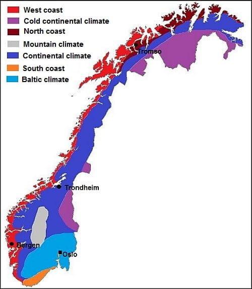 Norsko klima