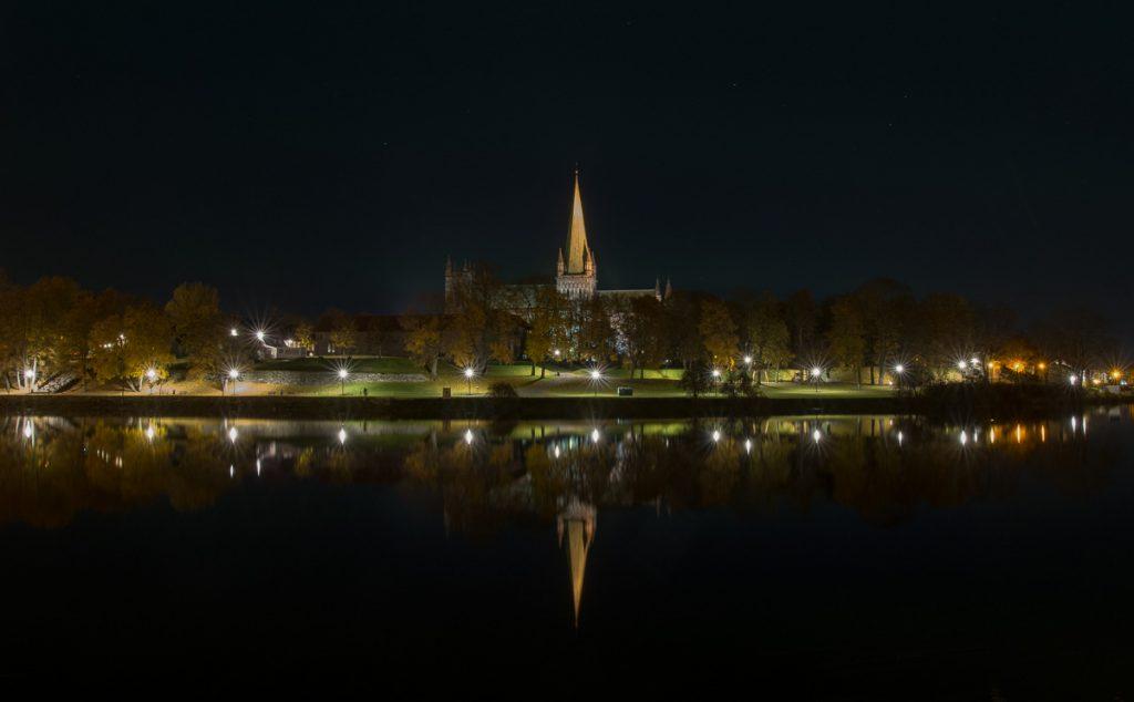 Polární záře v Norsku Trondheim