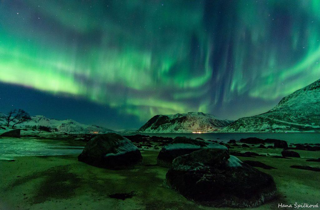 Polární záře v Norsku Tromso