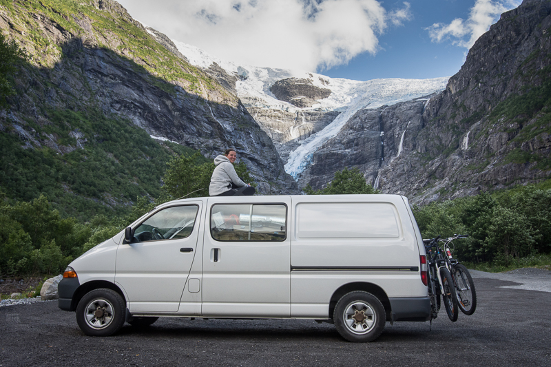Driving the Pan-American highway in Toyota Hiace.