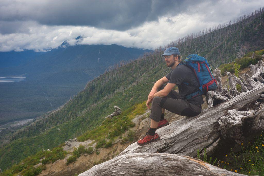 Sopka Chaitén v národním parku Pumalín, Patagonie