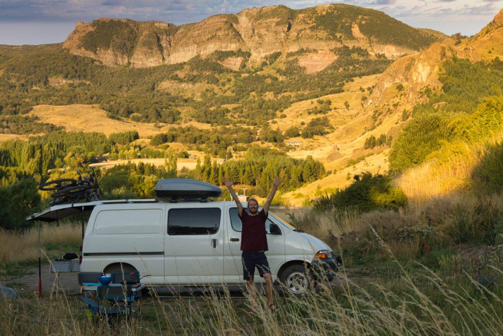 Cestování dodávkou po Patagonii