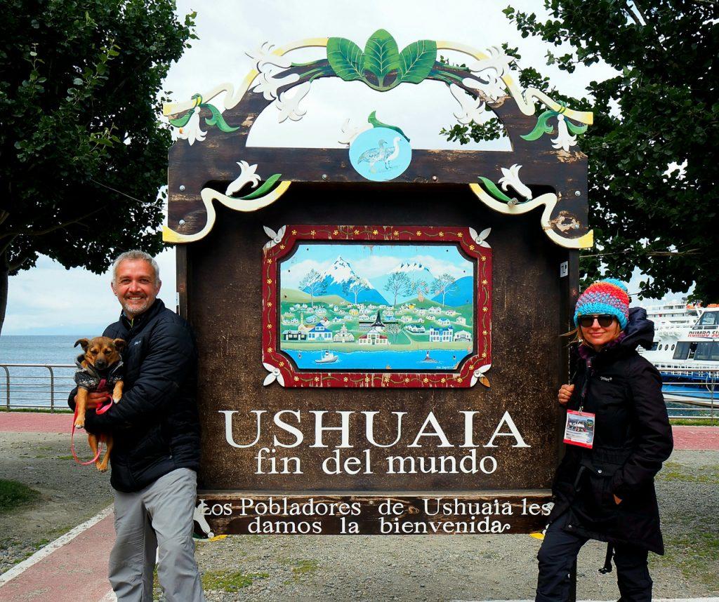 Marie s manželem v jihoargentinské Ushuaia
