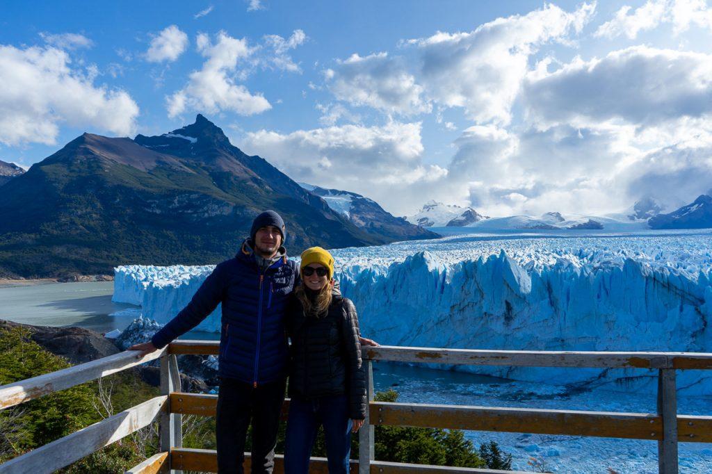 Petra a David u ledovce Perito Moreno