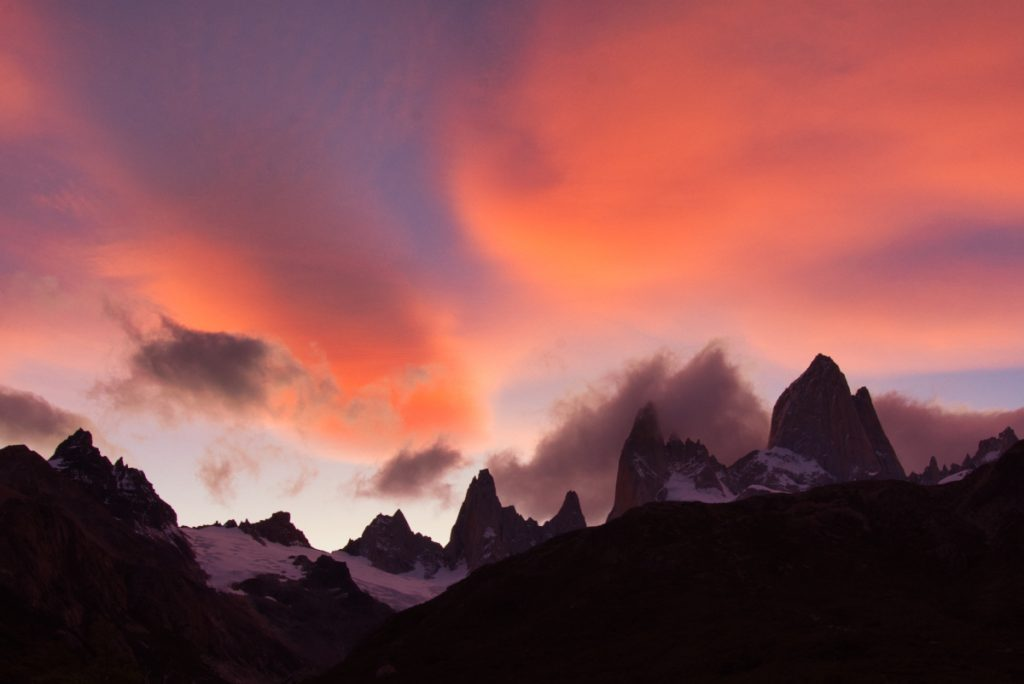 Sunset at Mt Fitz Roy