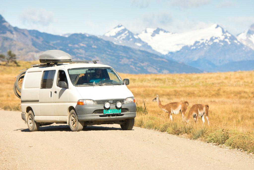 Driving through Patagonia National Park
