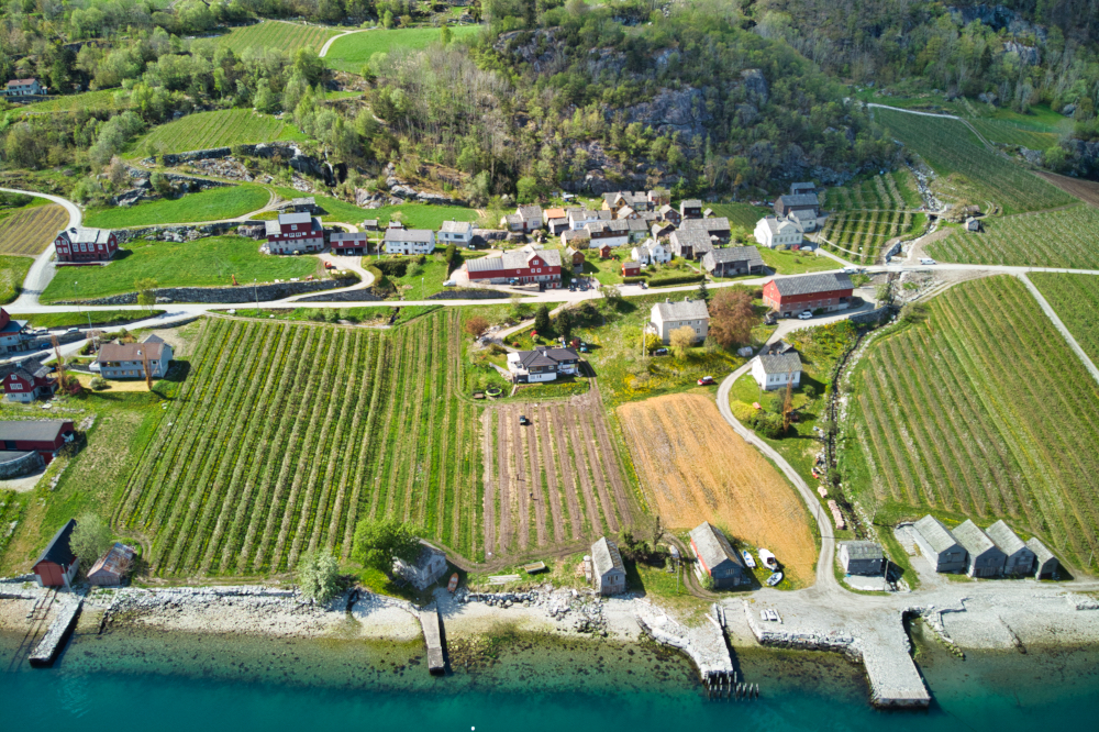 Agatunet cluster farms in Hardanger, Norway