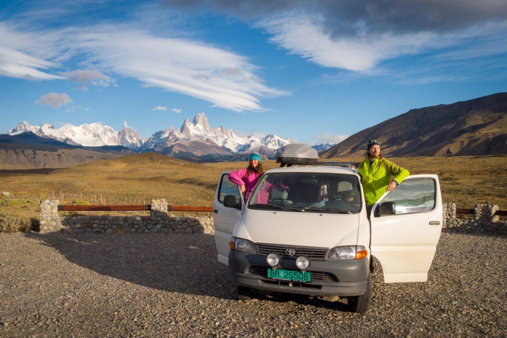 Já, Ivar a naše dodávka na cestě po Patagonii