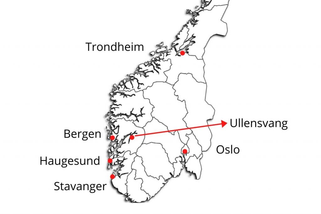 Map of Norway: Location of Hardanger