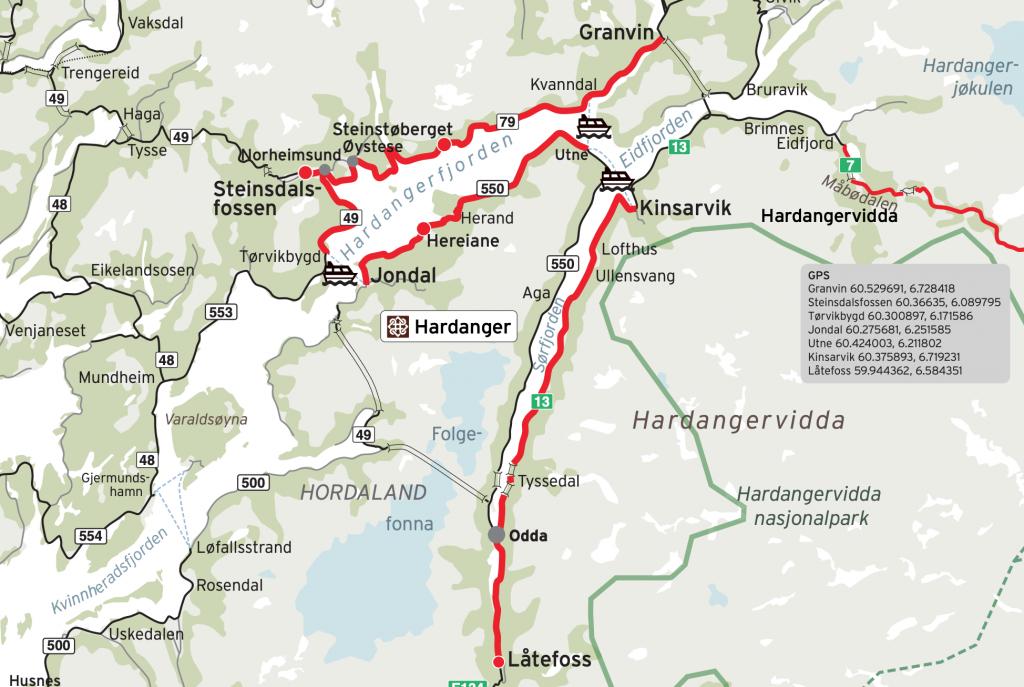 Norská národní scénická silnice Hardanger