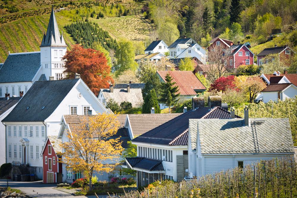 Utne in Hardanger, Norway