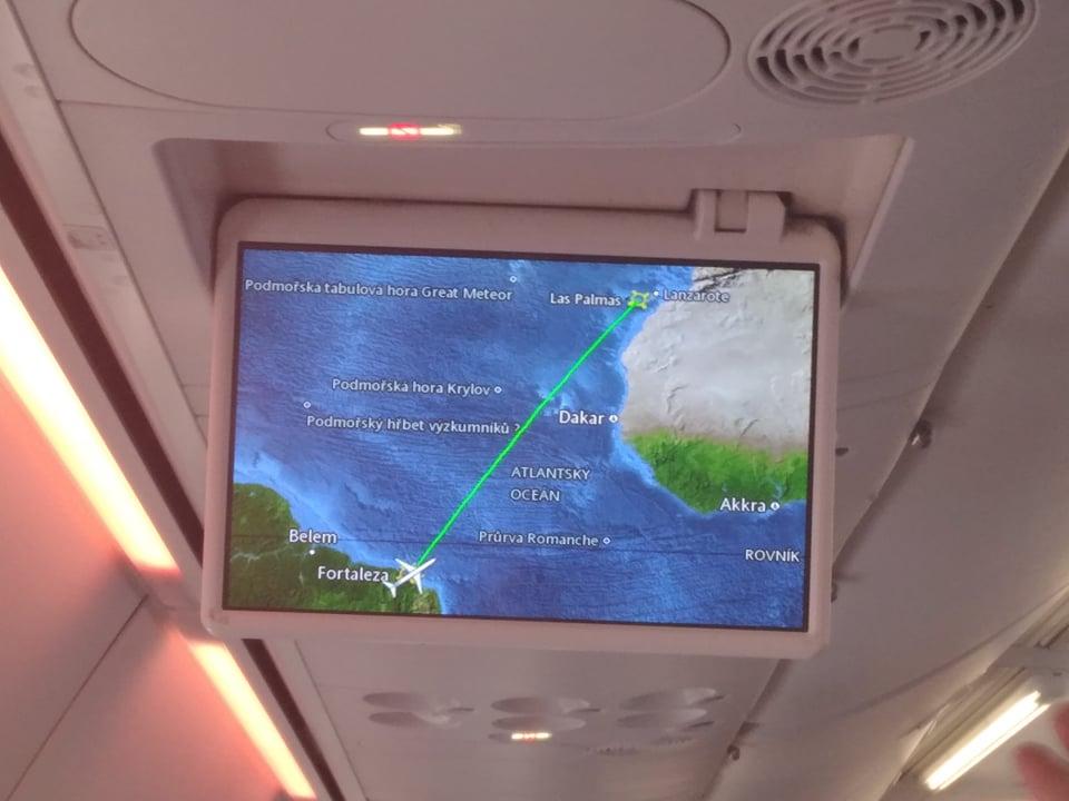 Repatriační let z Argentiny do Norska