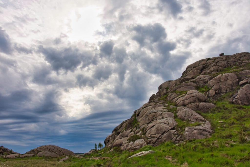 Rocky landscape around the Troll´s penis (Trollpikken)