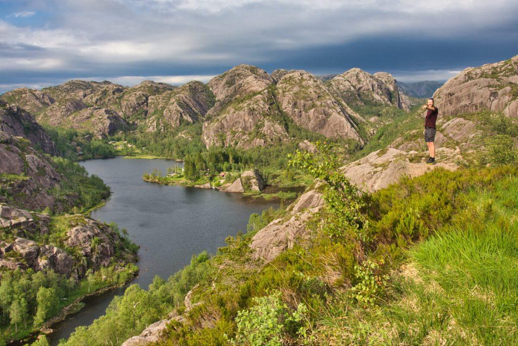 Zajimavá krajina na území Magma Geoparku v okolí dolů Blåfjell