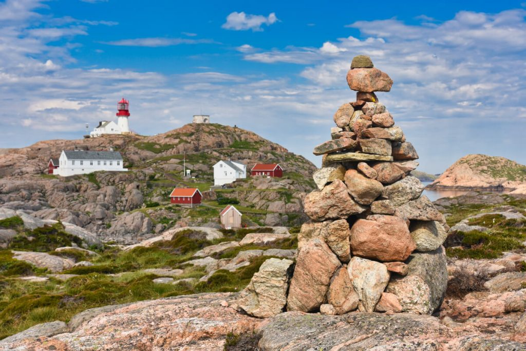 North Sea Route Tourist Attractions: Lindesnes lighthouse southernmost point of Norway